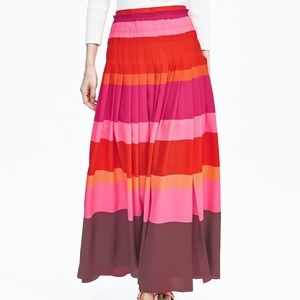 Multi-stripe maxi skirt